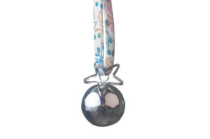 Baby Bola Chime Silver Pendant from The Good Karma Shop #pregnancyjewelry #babyball #happybaby #babybump