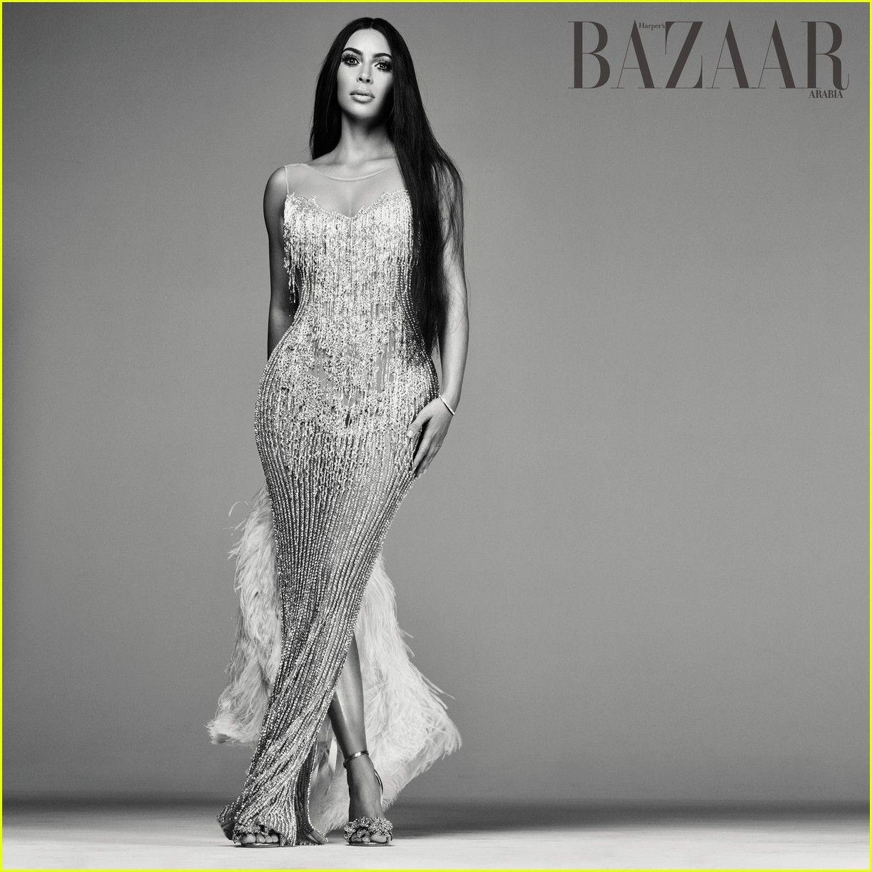 6874b40630 Kim Kardashian Channels Cher on Harper s Bazaar Arabia Cover ...