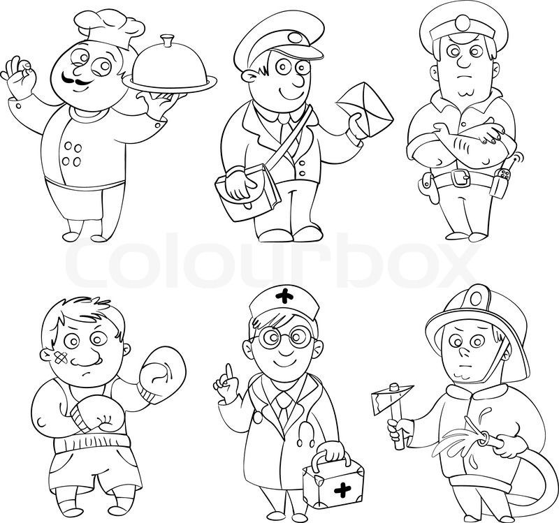 Coloring Pages of Job Professions | COOLcounselorLADY. | Pinterest