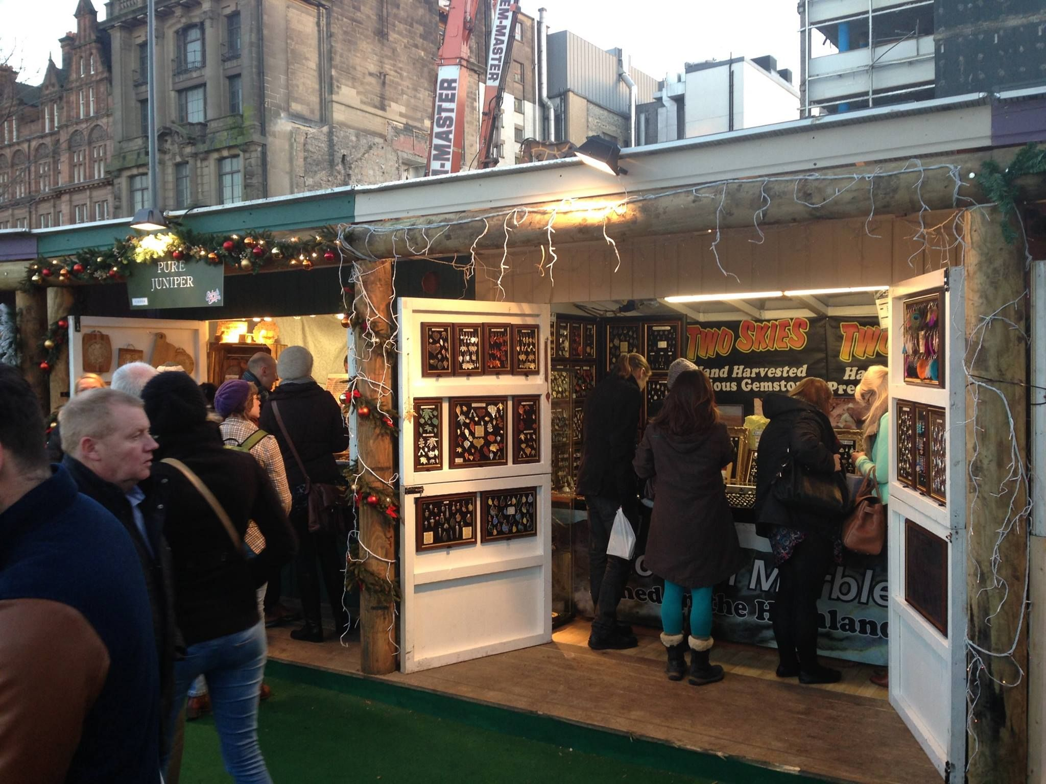 Two Skies Christmas stall in Edinburgh.