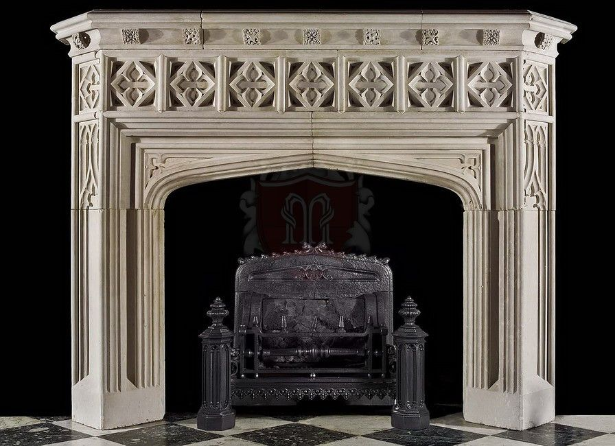French Style Mantels Limestone Fireplace Marble