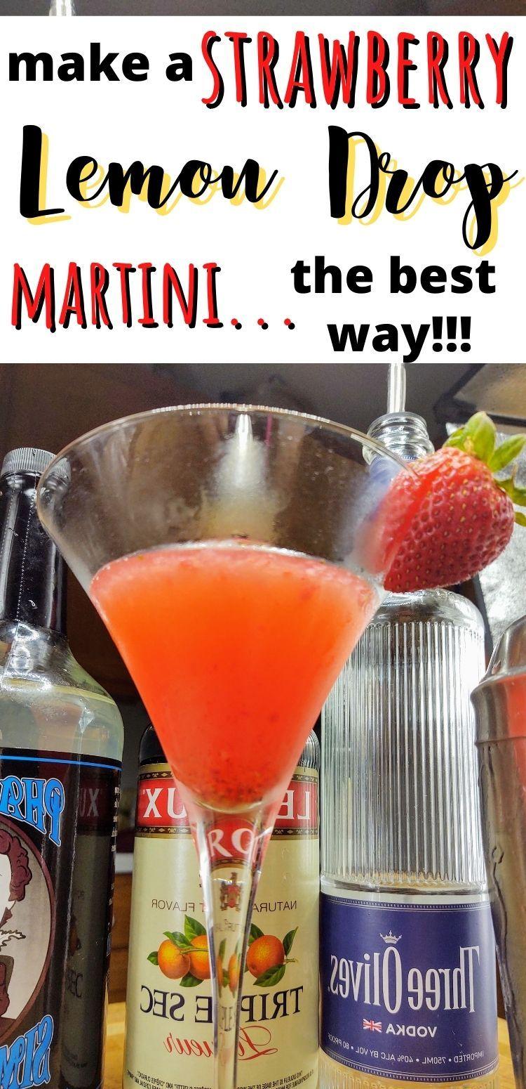 Strawberry Lemon Drop Martini Occasional Cocktails Recipe In 2020 Strawberry Lemon Lemon Drop Martini Lemon Drop