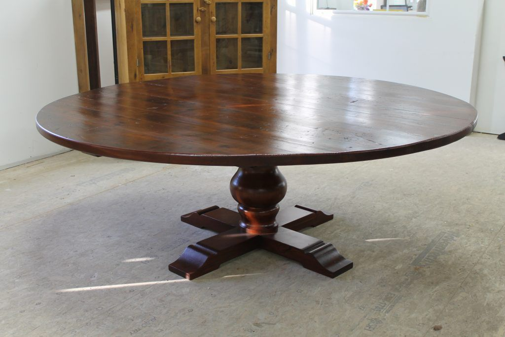 84 Reclaimed Wood Round Pedestal Table