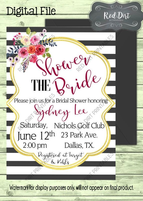printable digital bridal shower invitation 1 jpeg invitation file