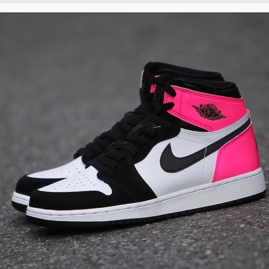 Nike Shoes | Nike Air Jordan 1 Neon Pink Reflective Black