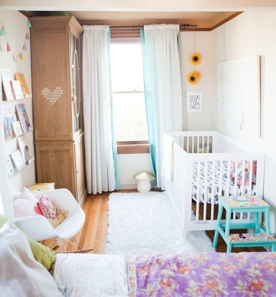 Nursery Decor Tour: Freia's Cozy, Colorful Corner In The Master Bedroom