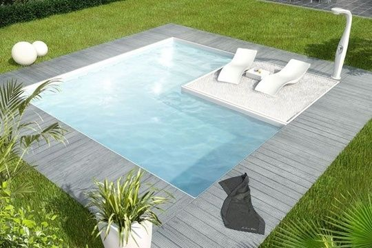 Une piscine à tout prix Small pools, Modern and Plunge pool - Prix Beton Pour Terrasse