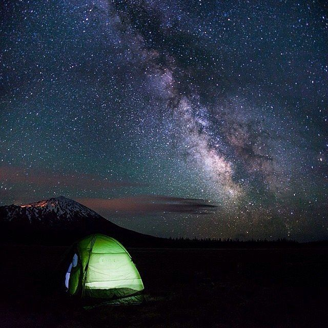 Sleeping under the stars at Mt. Bachelor  Tag photos #oregonnw to be featured.  Photo: @justin.watts by oregon.nw