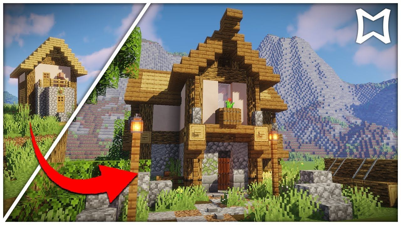 How To Transform A 1 14 Village House In Minecraft Youtube Minecraft Architecture Easy Minecraft Houses Minecraft House Designs