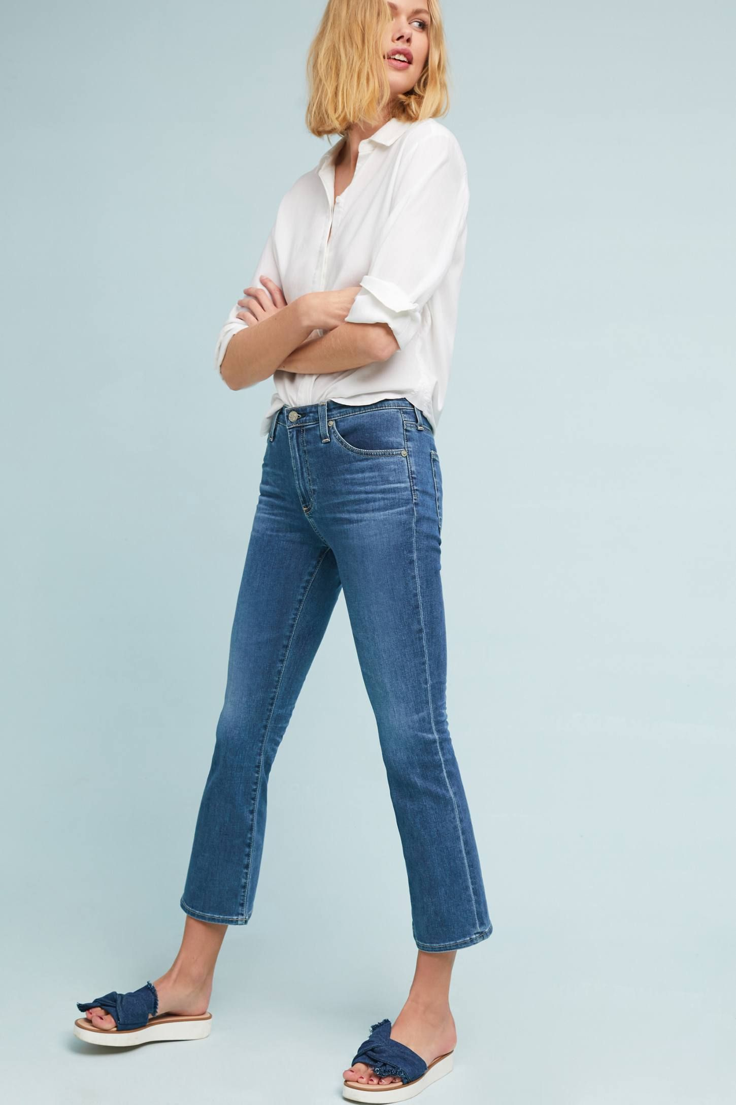 30fcea63224 Shop the AG The Jodi High-Rise Cropped Flare Jeans and more Anthropologie  at Anthropologie today. Read customer reviews, discover product details and  more.