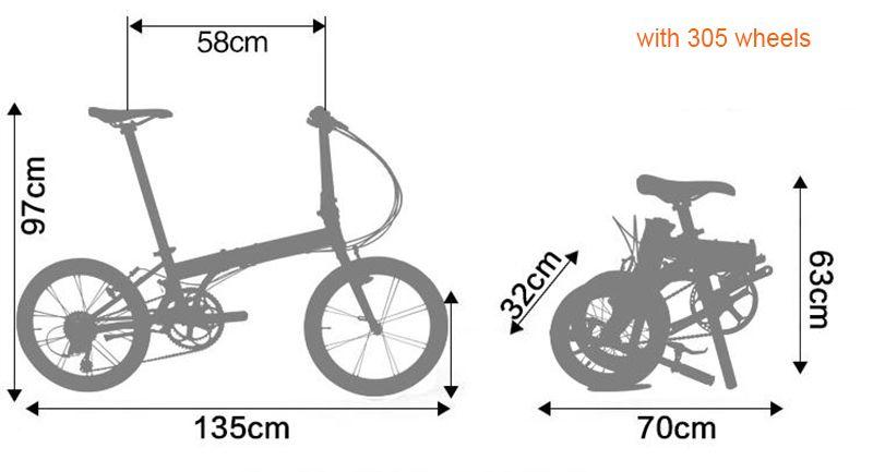 Fnhon Zephyr Alloy 6061 Folding Bike Frame Fork 16 305 349 V Brake Frameset Bicycle Parts Kids Bikes Shop Di 2020