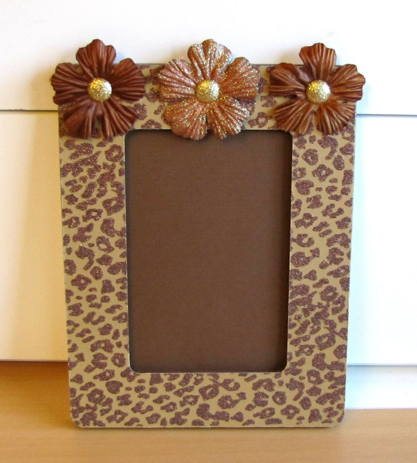 Cheetah Print Altered Picture Frame - idea for gift | I want to make ...