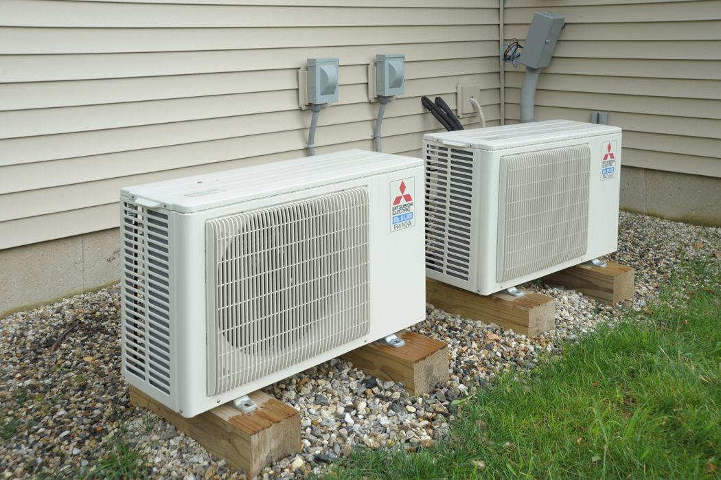 whole house air conditioner the two mitsubishi ductless minisplit units used at this 11106
