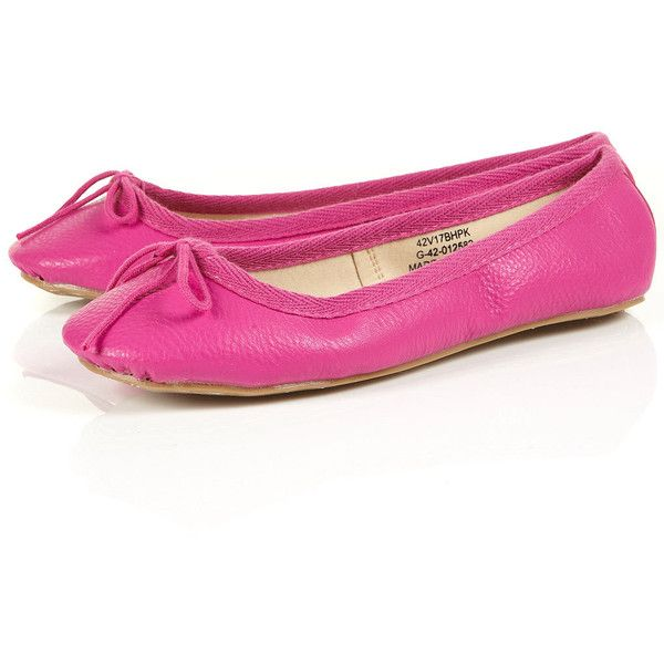 VIBRANT Hot pink Ballet Pumps ( 32) ❤ liked on Polyvore featuring shoes 00c0151f3