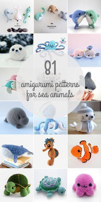 Amigurumi-Muster für Meerestiere  #amigurumi #knittingmodelideas #meerestiere #muster #crochettoysanddolls