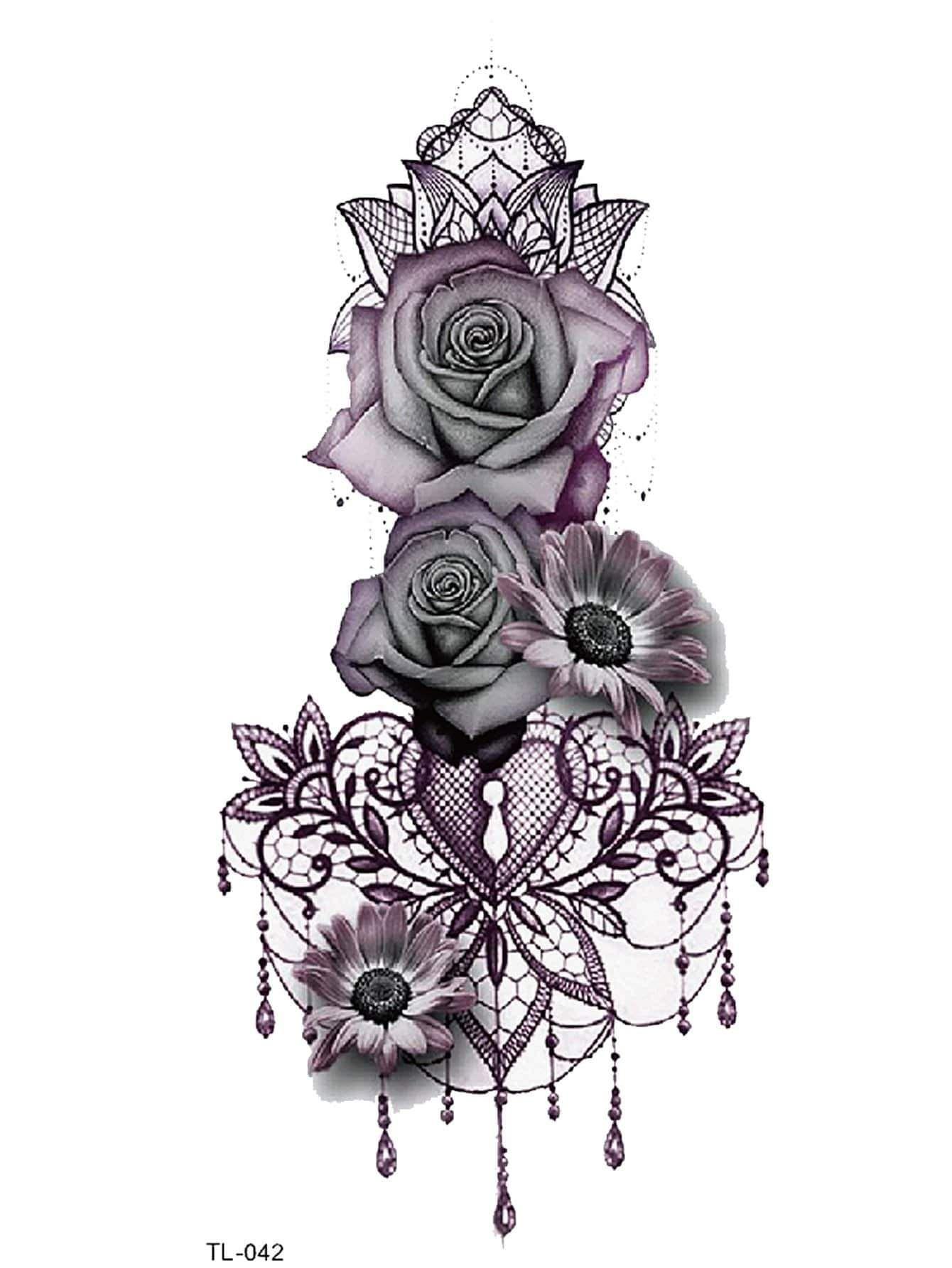 Flower Heart Tattoo Sticker Chicgirlie Lace Flower Tattoos Tattoos For Women Half Sleeve Half Sleeve Tattoo
