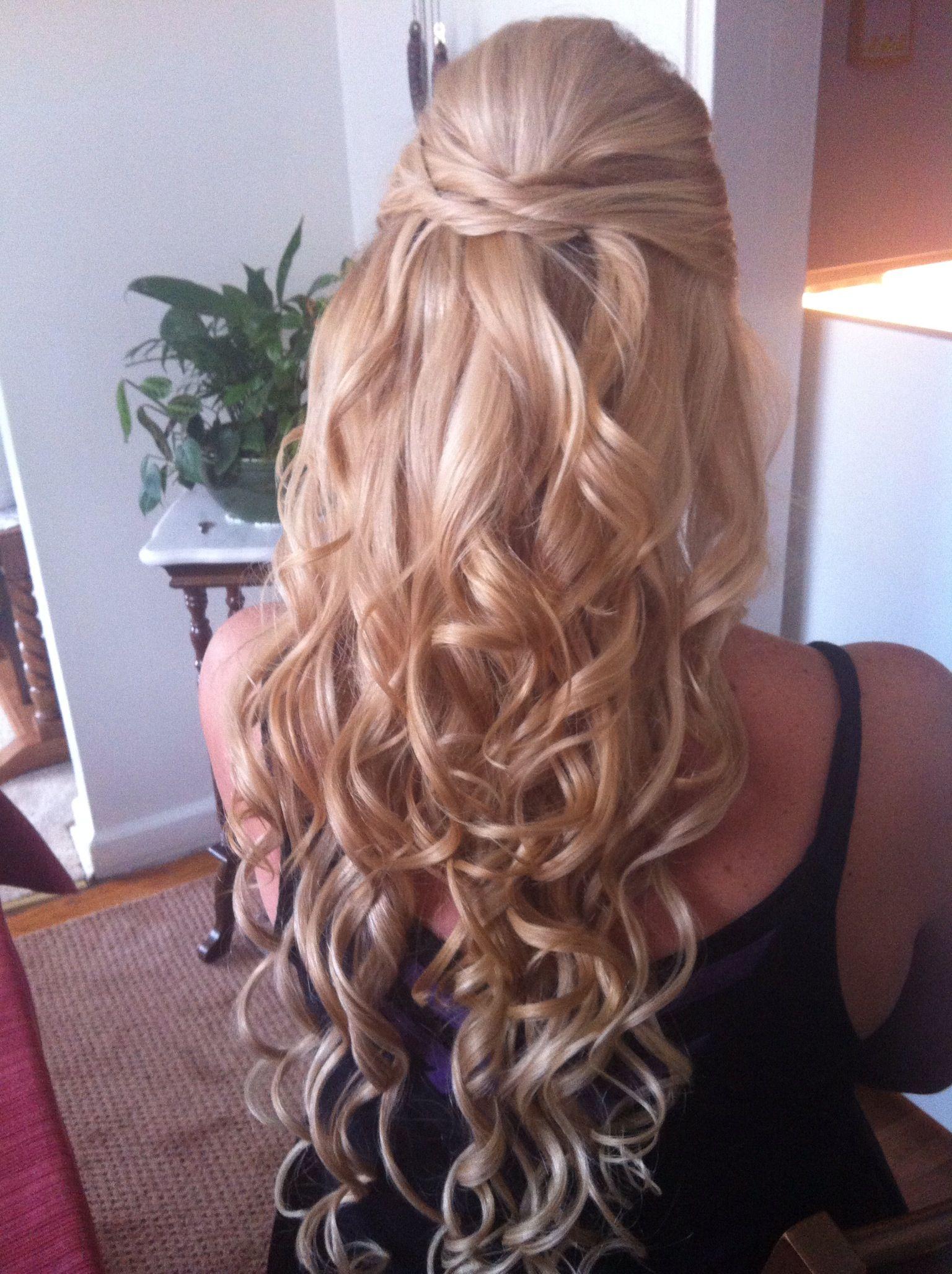Wedding hair love the long spiral curls