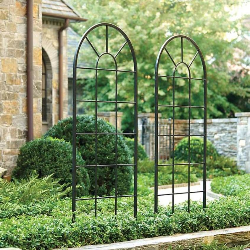 Good Decorative Trellis Ideas Part - 9: Iron Modern Outdoor Trellis : Decorative Modern Outdoor Trellis .