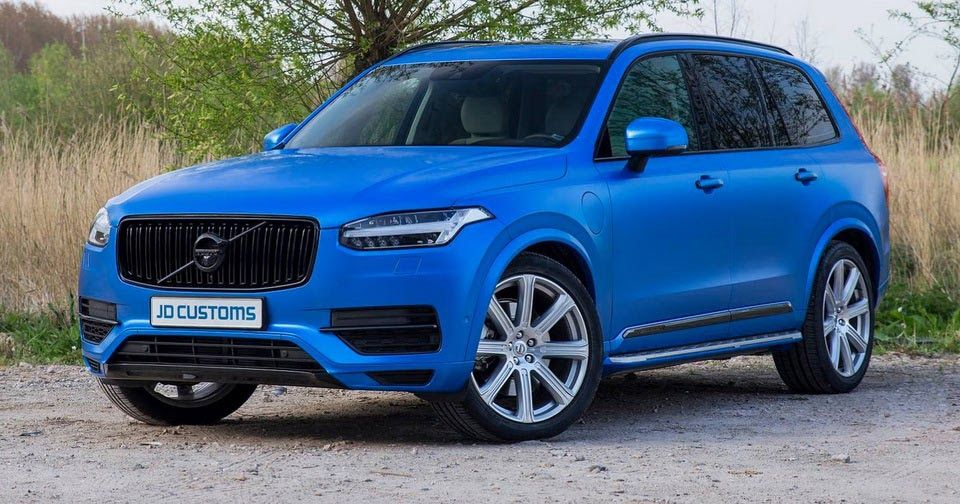 Volvo Xc90 Gets Wrapped In Satin Perfect Blue Volvo Xc90 Volvo