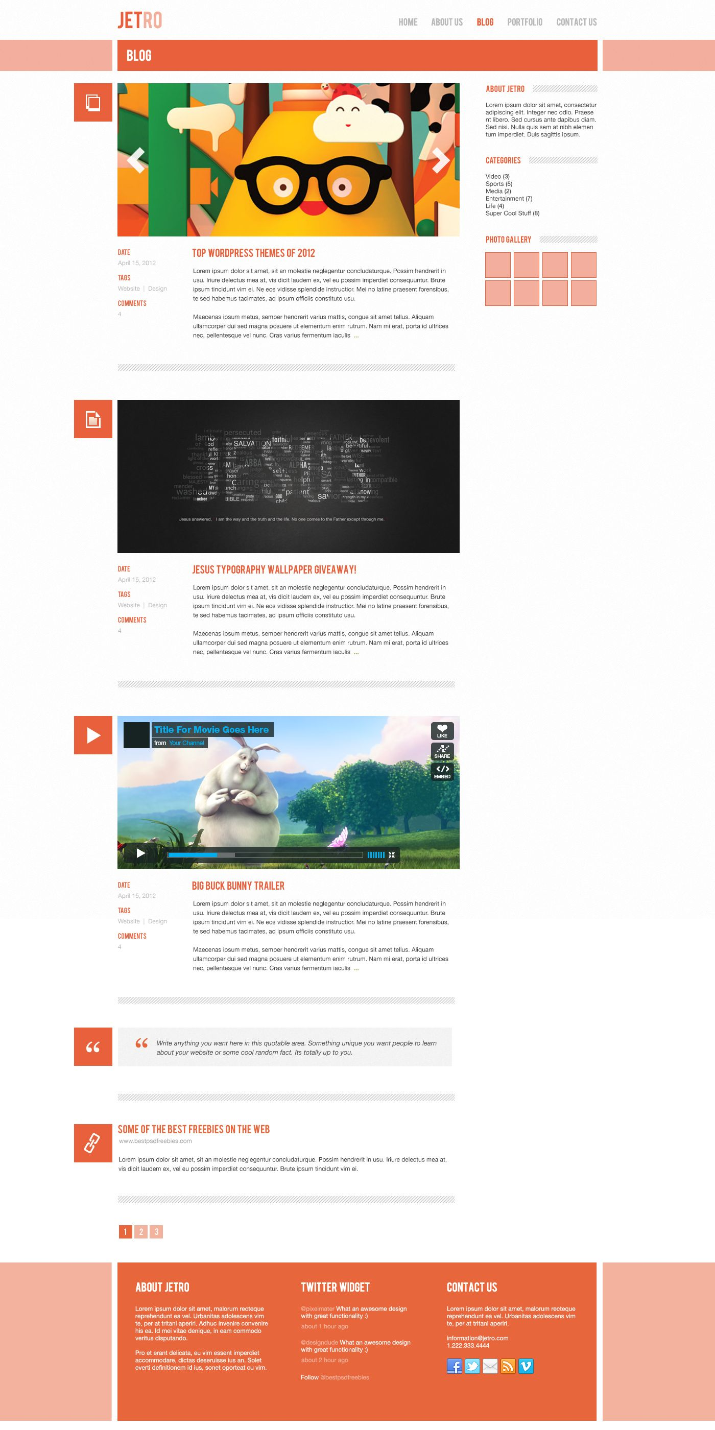 Pretty Free Blogger Html Templates Images - Entry Level Resume ...