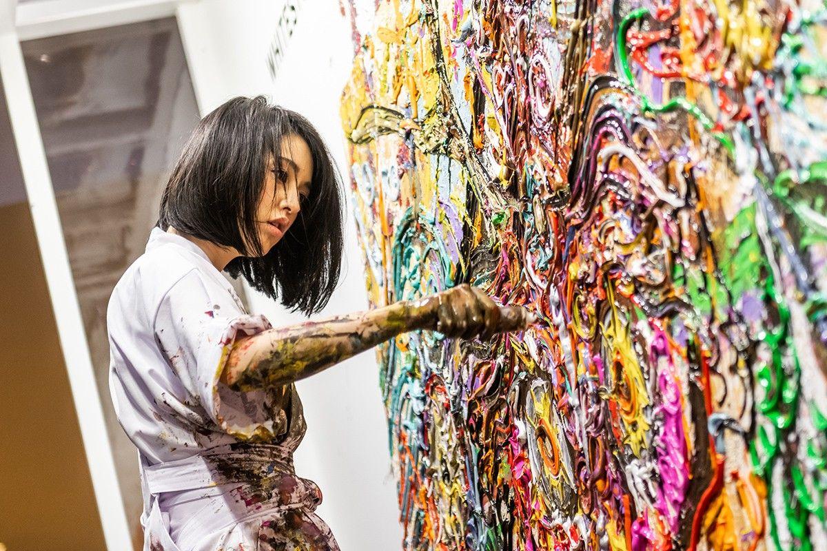 hypebeast 走進日本藝術家小松美羽 miwa komatsu 作品展 art contemporary art modern art