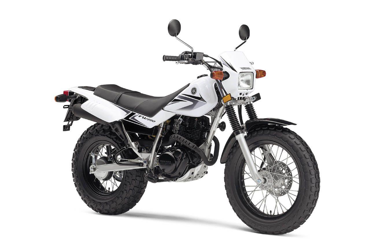 Yamaha TW200 retro dual-sport thrasher