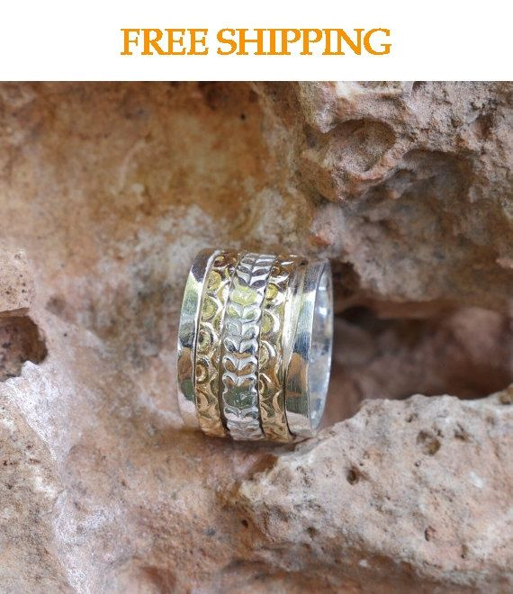 Antique spinner ring, Extra wide Spinner ring, antique spinning ring, spinner bands, worry ring, promise rings, wedding bands, MR1937GF