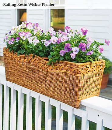 Railing Planters I Have These And Love Them Fits Right On Top Of