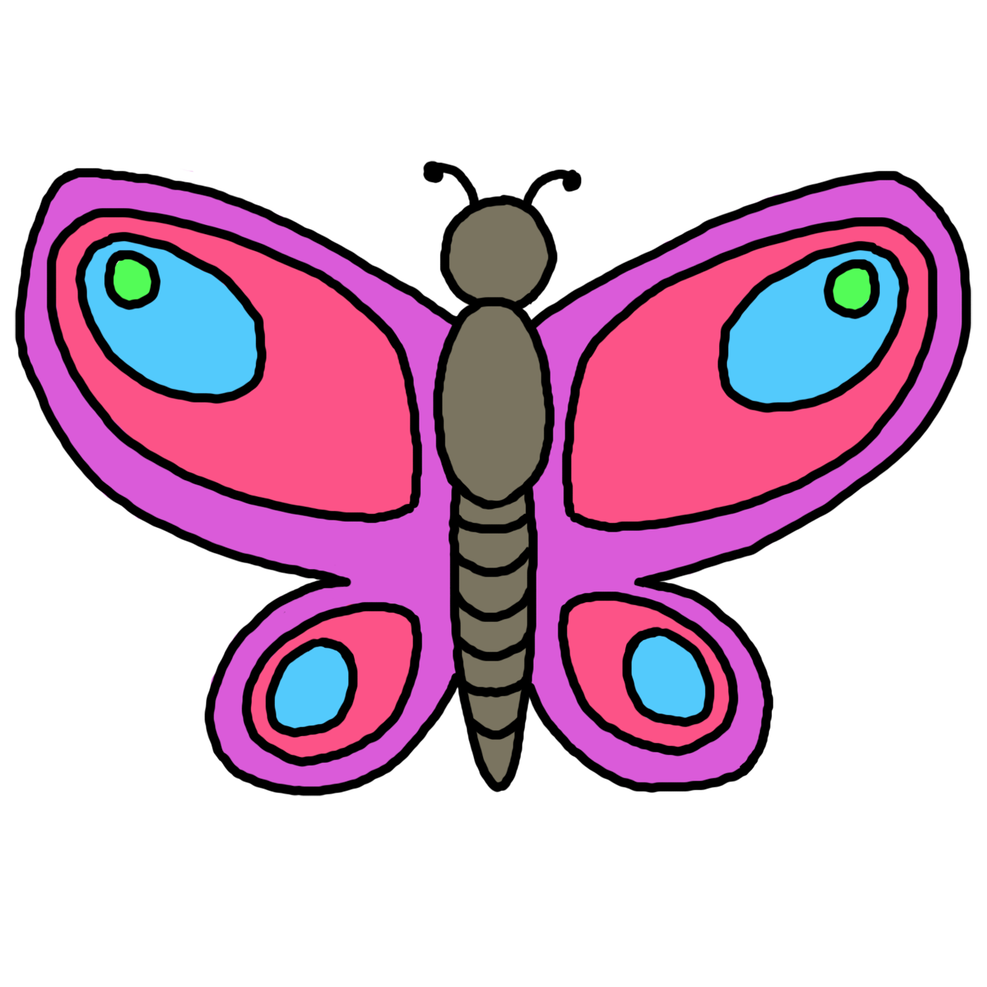 Butterfly Outline Clipart Free Clipart Images Butterfly Outline Butterfly Drawing Clip Art