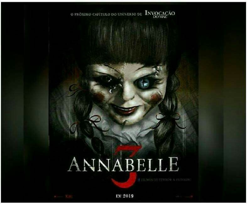 Annabelle 3 Movie Poster Annabelle Theconjouring Fantastic Movie Posters Scifimovies Posters Horrormov Horror Movies Scariest Horror Movie Art Clown Horror