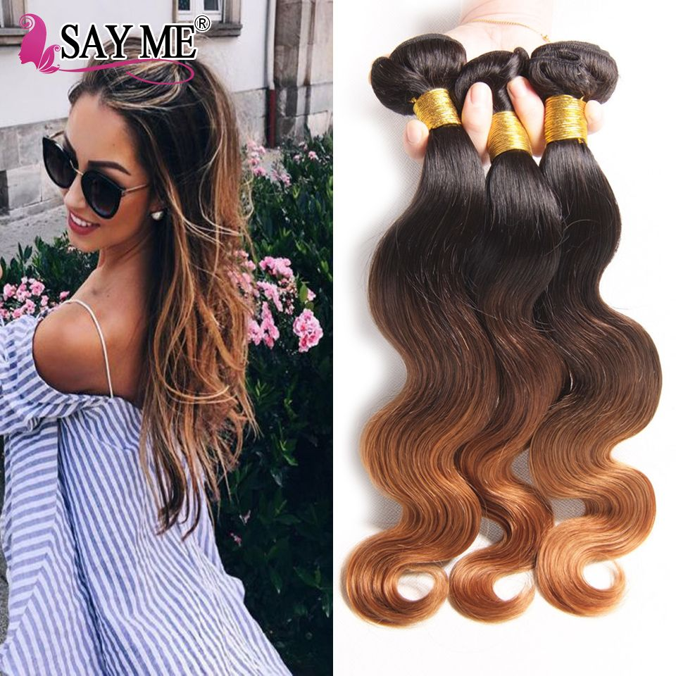 Ombre malaysian hair bundles ombre malaysian body wave a ombre