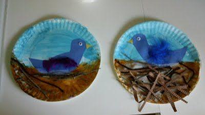 Bird in a nest craft