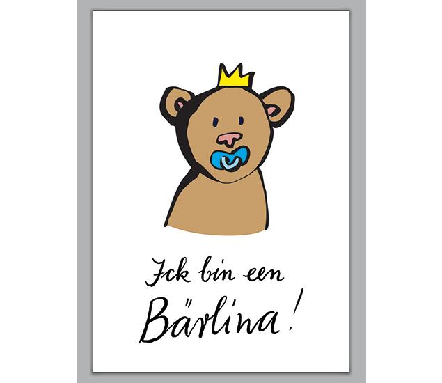 Die Berliner Bären Babykarte - http://www.1agrusskarten.de/shop/die-berliner-baren-babykarte/    00024_0_2723, Baby, Babykarte, Bär, Berlin, fröhlich Schnuller, Geburt Humor, Grusskarte, Klappkarte00024_0_2723, Baby, Babykarte, Bär, Berlin, fröhlich Schnuller, Geburt Humor, Grusskarte, Klappkarte