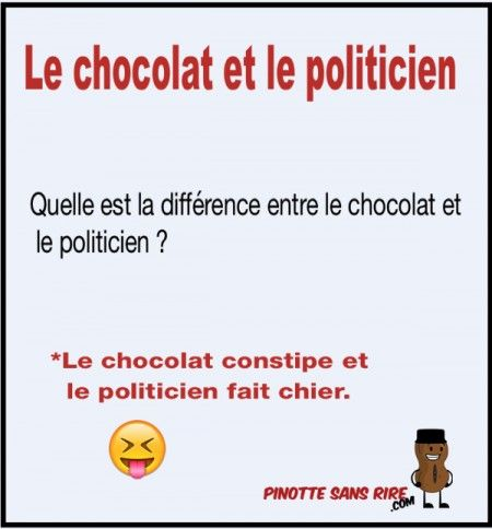 Quelle est la diff rence entre le chocolat et le politicien - Difference entre pin et sapin ...
