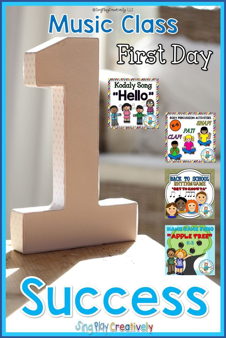 First Day Music Class success is yours with these songs, games and music lessons. https://www.teacherspayteachers.com/Store/Sing-play-creatively/Category/BACK-TO-SCHOOL-188354