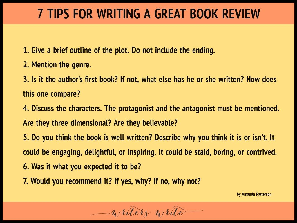 7 tips for writing a great book review writing a book
