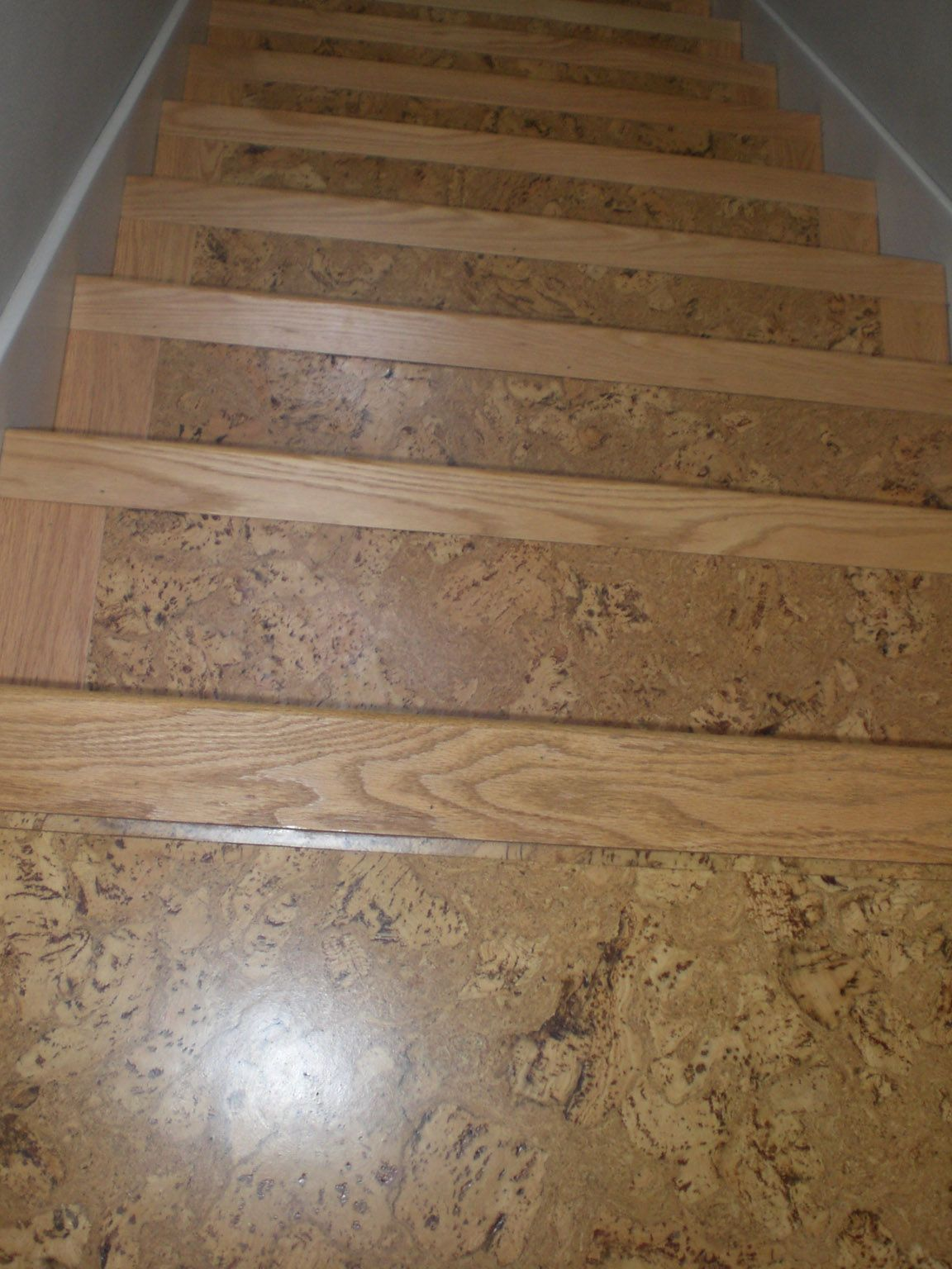 Cork On Floors Cork Flooring Stair Nosing Flooring For Stairs