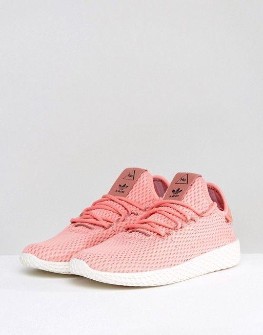 Adidas Originali Hu X Pharrell Williams Tennis Hu Originali Formatori In Rosa 954bfd