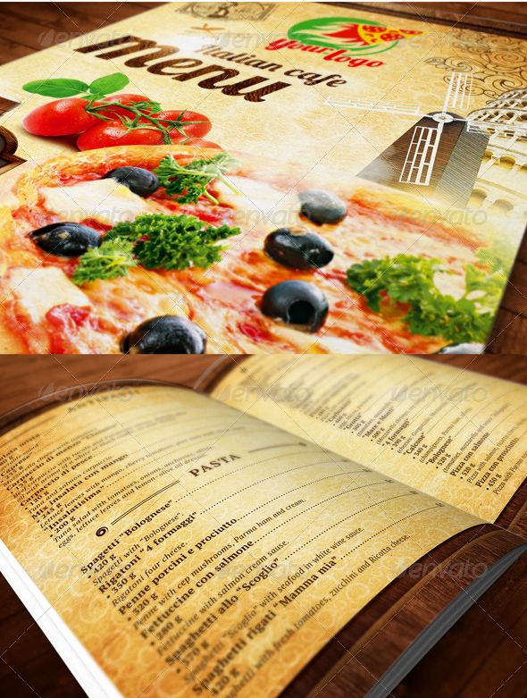 modern restaurant food menu flyer template print design