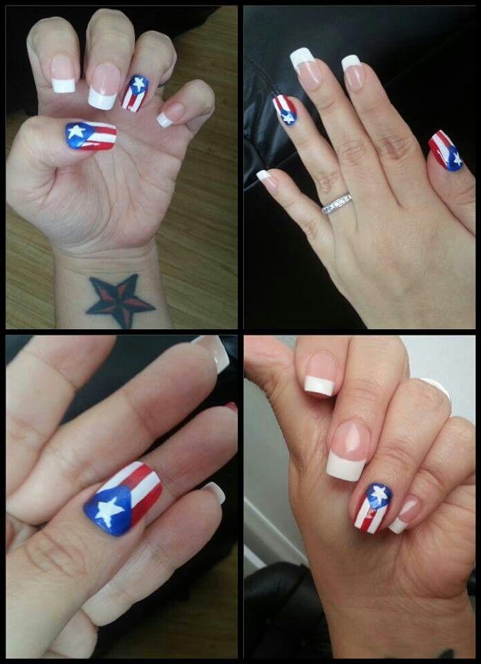 Boricua Bandera Cuba Love Nails Pretty My Funky
