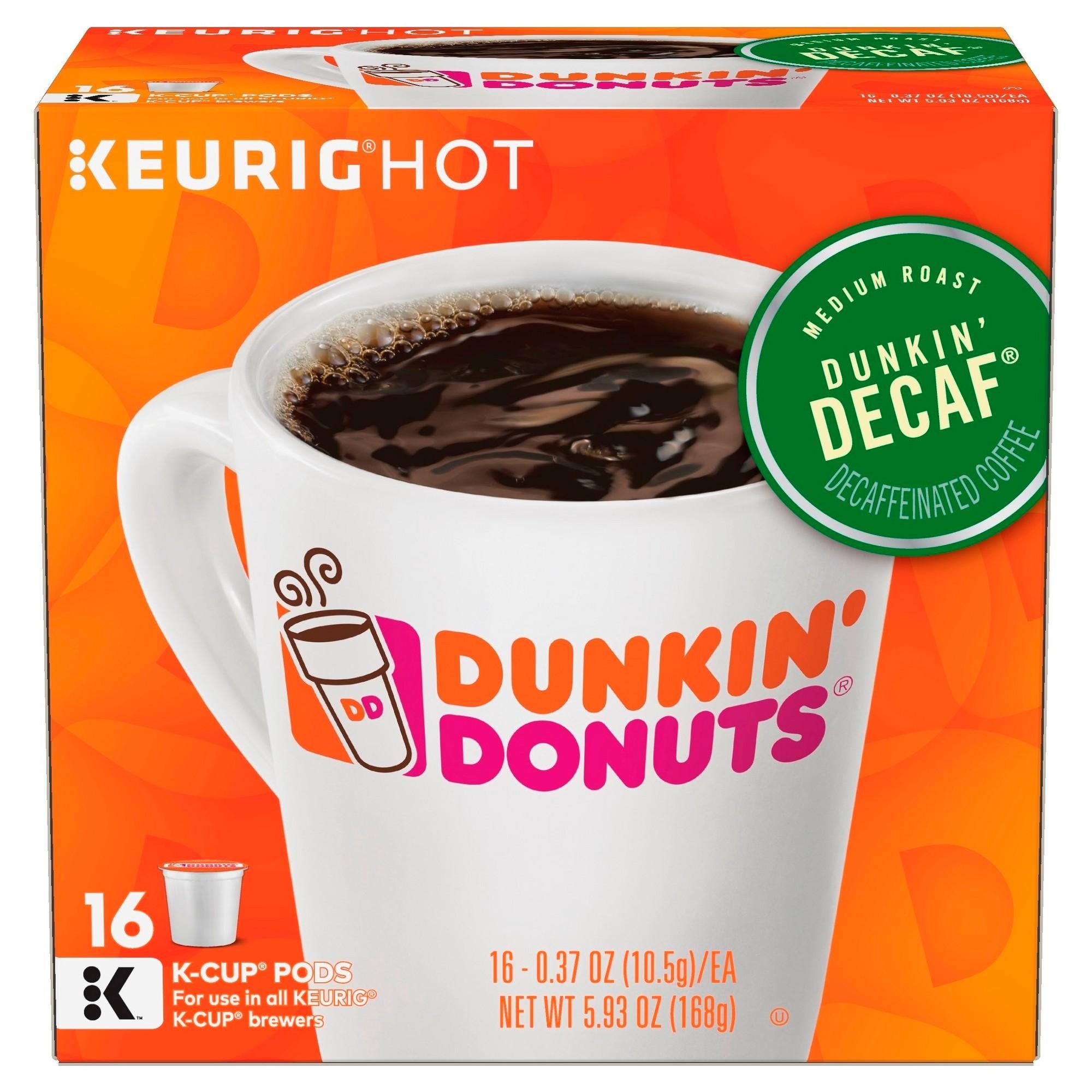 e1fafcaa991ee Dunkin' Donuts Dunkin' Decaf Medium Roast Coffee - Keurig K-Cup Pods ...