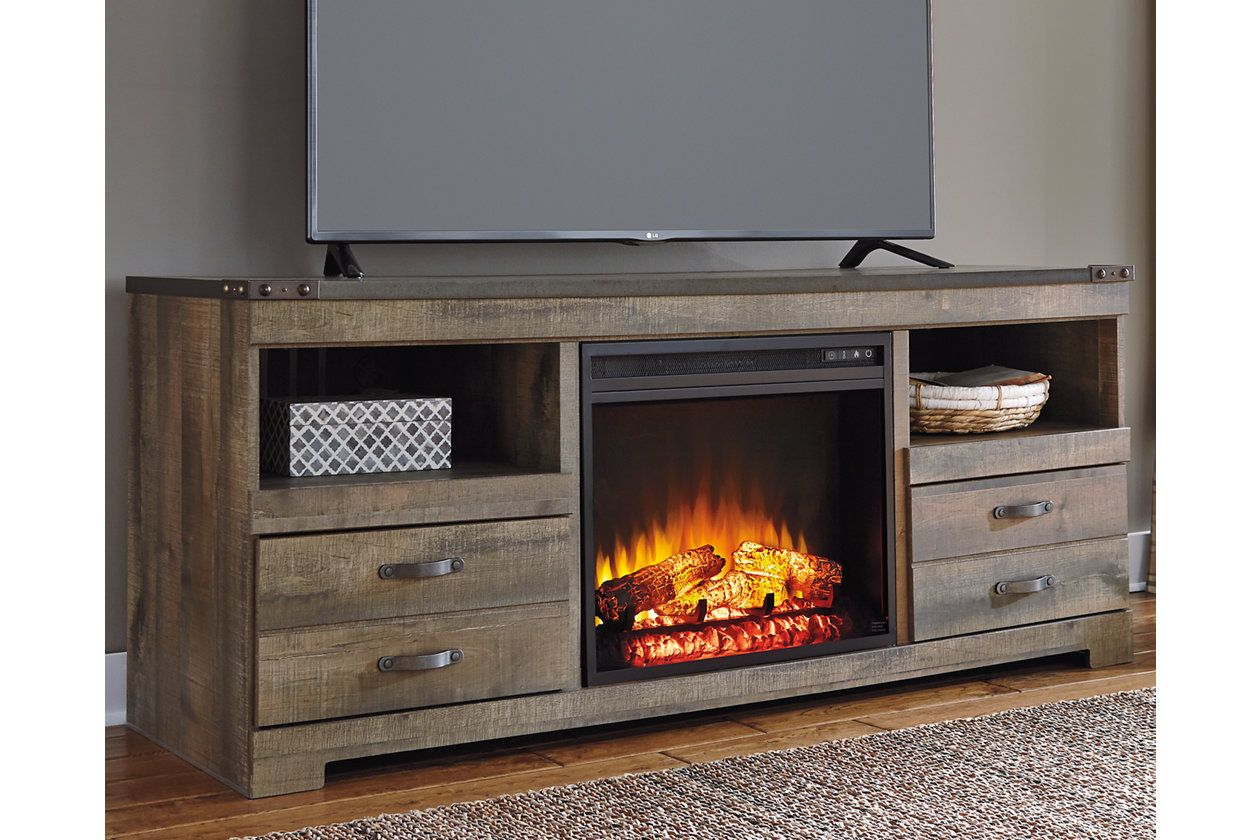 """Trinell 63"""" TV Stand with Electric Fireplace Electric"""