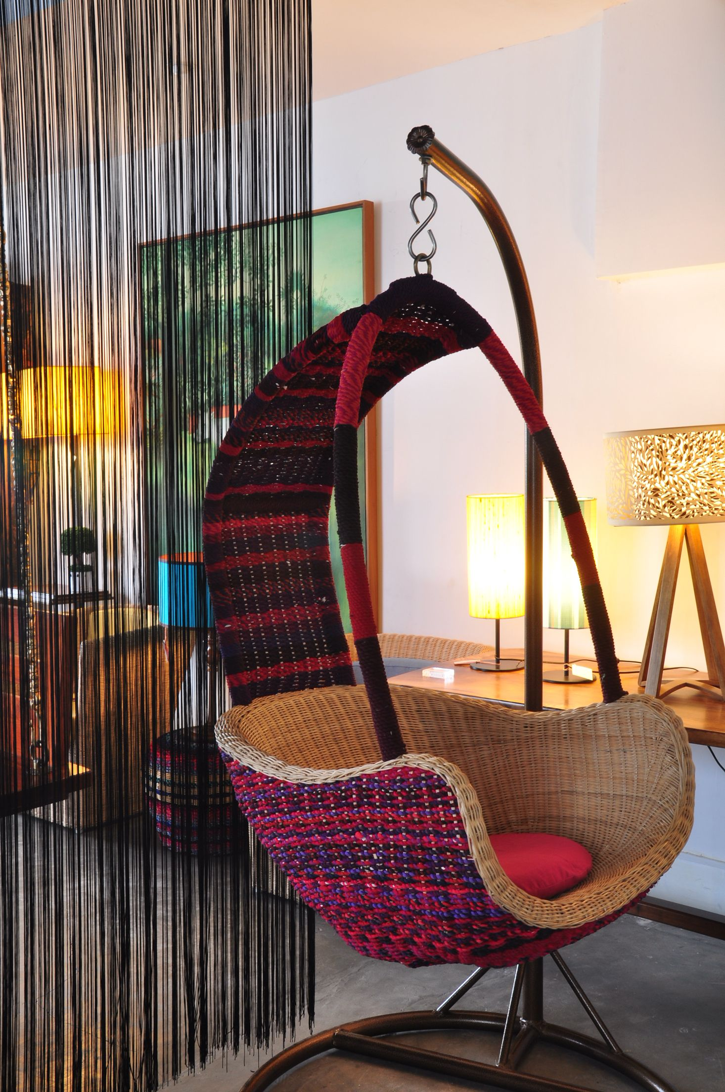 Rattan Cane Pebble Sofa Studio Ebony Cane Furniture
