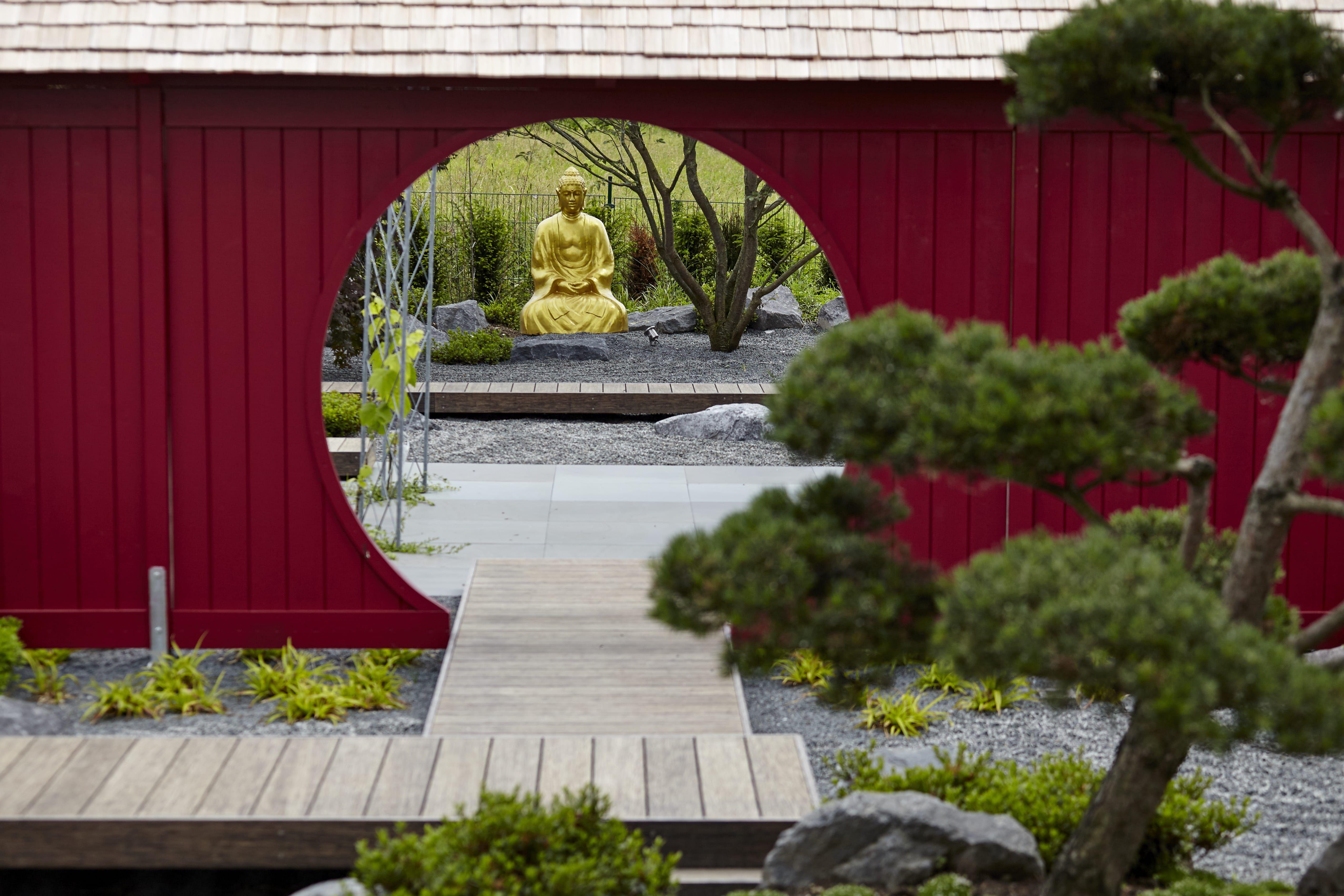Ruhe Und Erholung Im Japanischen Garten Von Rheingrun Garten