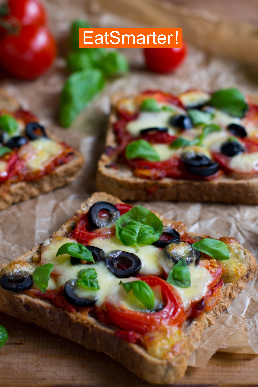 schnelle polenta pizza mit champignons