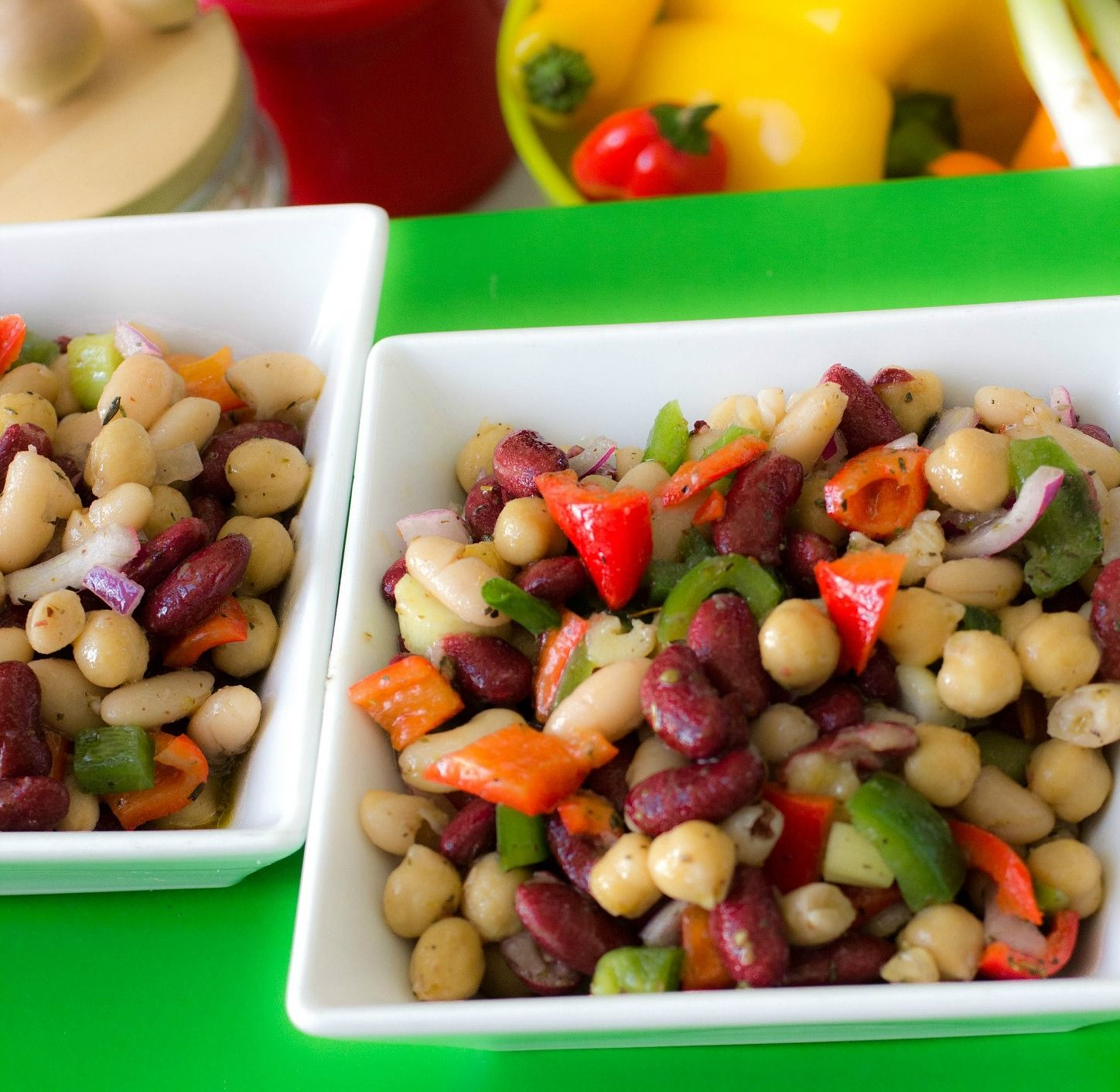 Quick Easy 3 Bean Salad Recipe With In 2020 Bean Salad Recipes Healthy Christmas Recipes Bean Salad Recipes Healthy