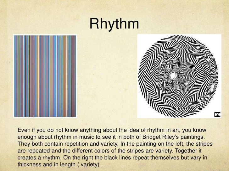 The Image Explains What Rhythm Is On The Image On The Right The Lines Repeat Themselves But Are Also Varied Principles Of Design Rhythm In Design Rhythm Art