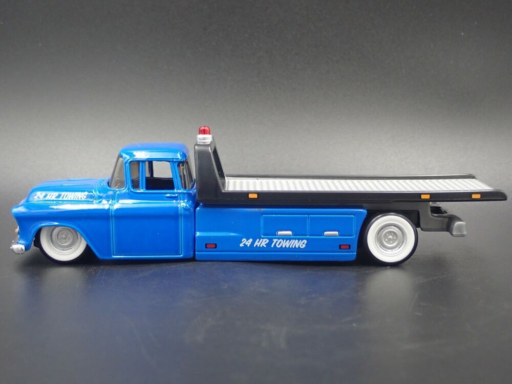 1957 Chevy Chevrolet Flatbed Ramp Truck Tow Truck 1 64 Scale Diecast Model Car Chevrolet Chevrolet Chevy Chevrolet Car Model Diecast Model Cars