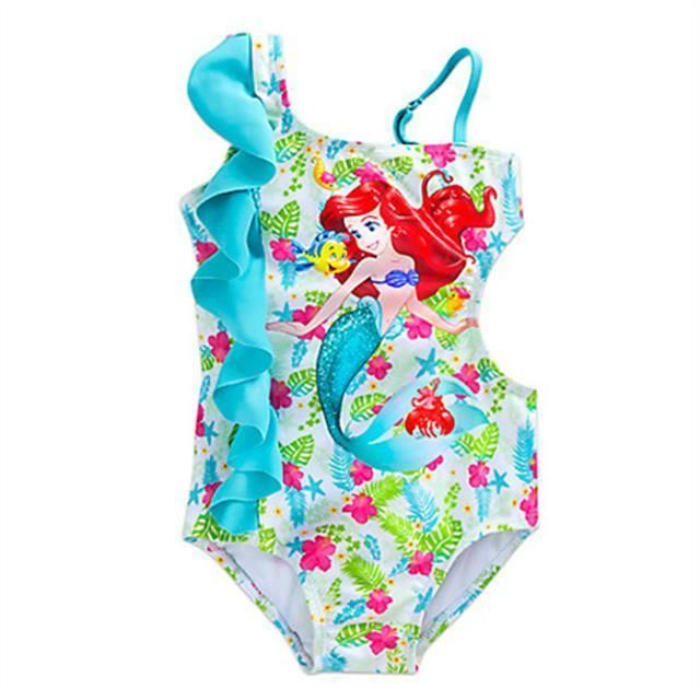 Disney Store Princess The Little Mermaid Ariel 1 PC Swimsuit Girl Size 4