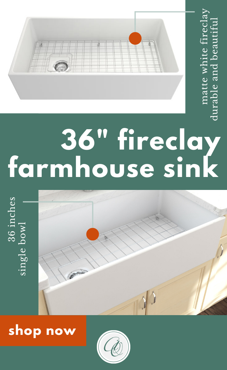 Bocchi Contempo 36 Matte White Fireclay Farmhouse Sink Single Bowl With Free Grid In 2020 Farmhouse Sink Fireclay Farmhouse Sink Fitted Cabinets